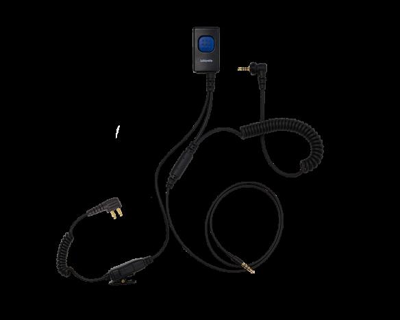 Lafayette M5/kännykkä miniheadset kuulonsuojaimeen 2-pin (2553)