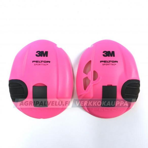 3M Peltor SportTac vaihtokuoret, pinkki