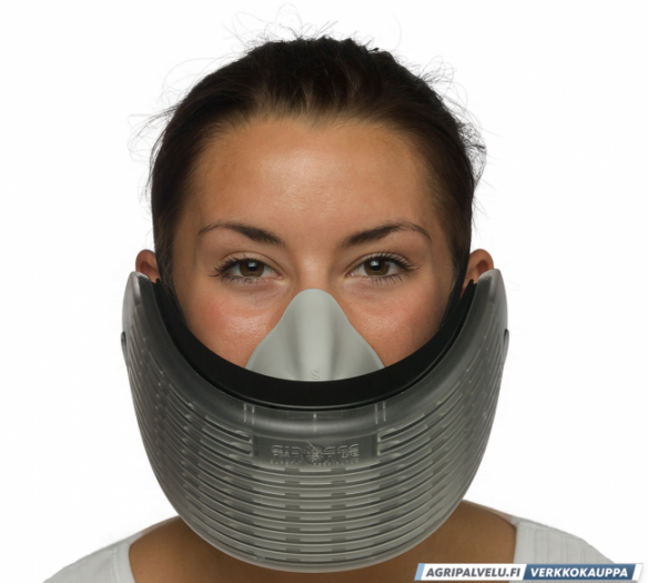 Air-Ace hengityssuojain kalvopakkauksessa, musta