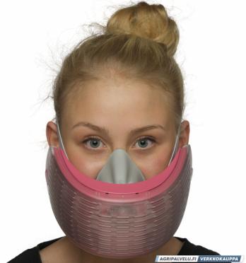 Air-Ace hengityssuojain kalvopakkauksessa, punainen (koko S)