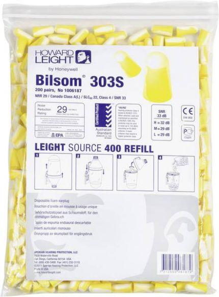 Howard Leight Bilsom 303 korvatulppa (200 pr) koko S, SNR33