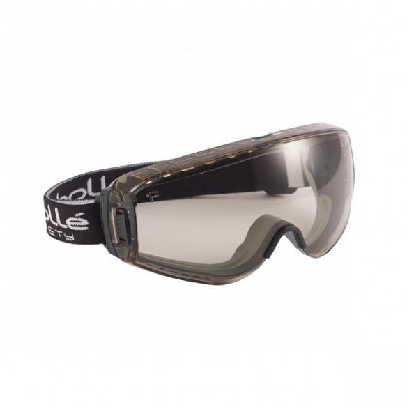 Bollé Safety Pilot II Suojamaski CSP, lasien päälle, platinum-pinnoite, EN166 BT KN, Vaalea