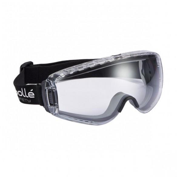 Bollé Safety Pilot II Suojamaski, lasien päälle, platinum-pinnoite, EN166 BT KN, Kirkas
