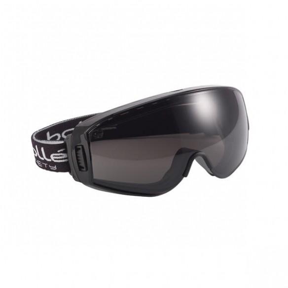 Bollé Safety Pilot II Suojamaski lasien päälle, platinum-pinnoite, Smoke