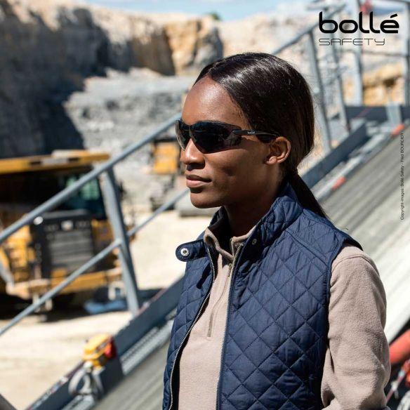 Bollé Safety Cobra suojalasit, platinum-pinnoite, Smoke
