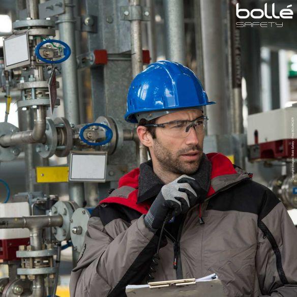 Bollé Safety Silium+ suojalasit, platinum-pinnoite, Kirkas