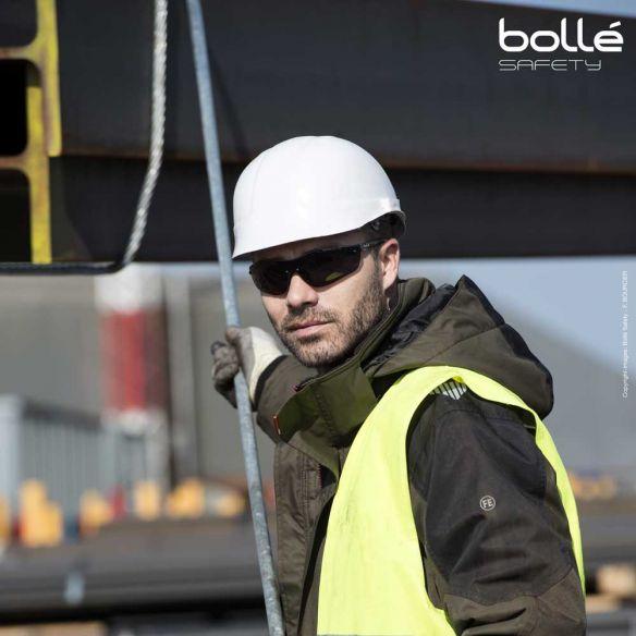 Bollé Safety Silium+ suojalasit, platinum-pinnoite, Smoke
