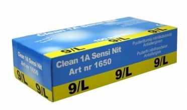 Clean 1A Sensi ohut kertakäyttöinen nitriilikäsine, puuteriton (100 kpl)