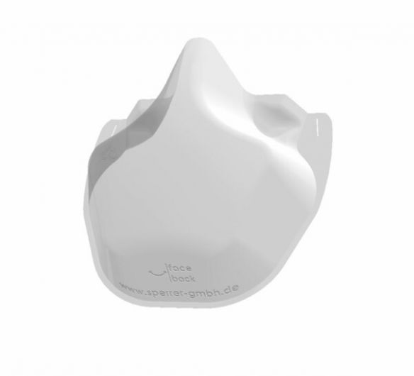 face.back clear face mask, standard
