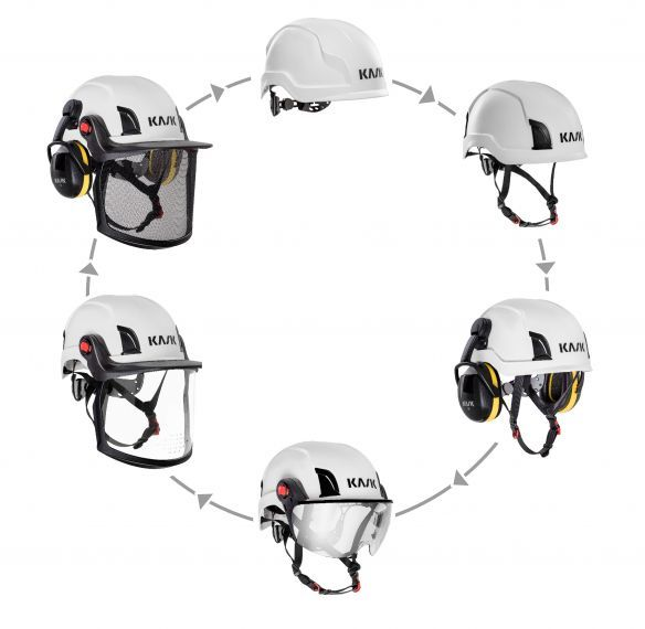 KASK Zen MM Visor Kit, metalliverkkovisiiri sis. adapterit