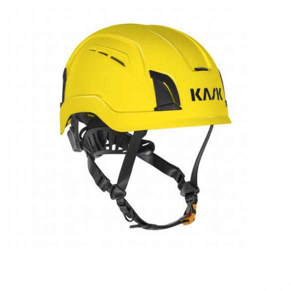 KASK Zenith X Air suojakypärä tuuletusaukoilla, keltainen