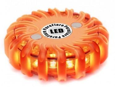 PureFlare LED valokiekko, 16 LED, oranssi
