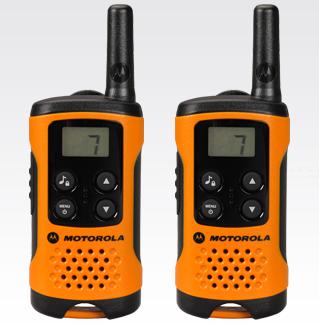 Motorola T41 PMR 446 -radiopuhelinsetti (oranssi/musta)