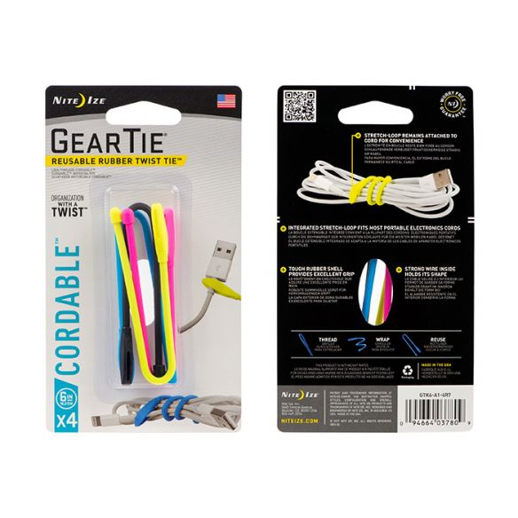 NiteIze Gear Tie Cordable Twist Tie 6