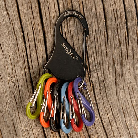 NiteIze KeyRack S-Biner -avaimenperä, musta