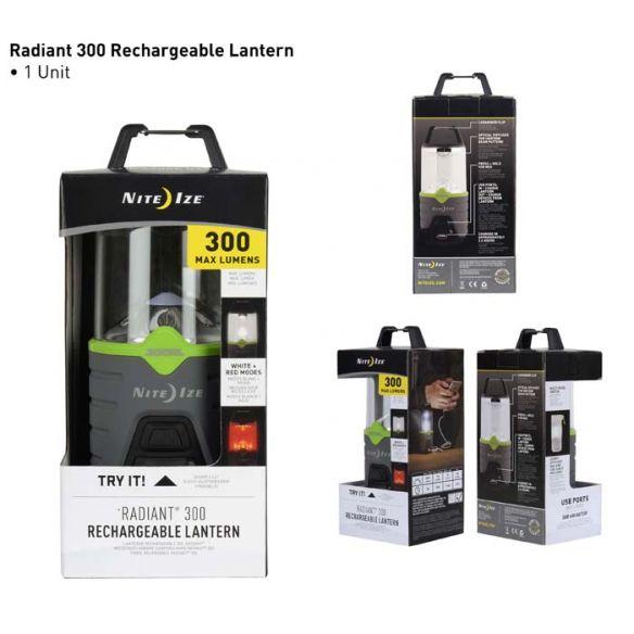NiteIze Radiant 300 lyhty, ladattava