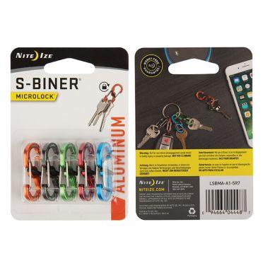 NiteIze S-Biner MicroLock Aluminium värilajitelma 5 kpl
