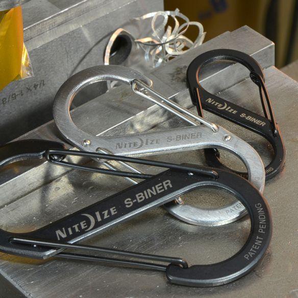 NiteIze S-Biner Stainless Steel Dual Carabiner, 3 kpl