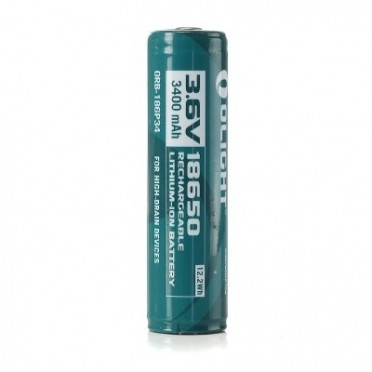 Olight 18650 Li-ion superakku 3.7 V, 3400 mAh