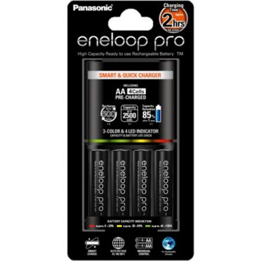 Eneloop Pikalaturi BQ-CC55E + 4 kpl Panasonic Eneloop Pro AA-akkuja