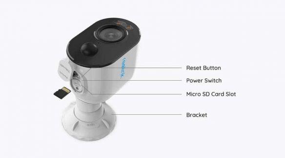 Reolink Argus 3 akkukäyttöinen WiFi kamera LED-kohdevalolla ulkokäyttöön