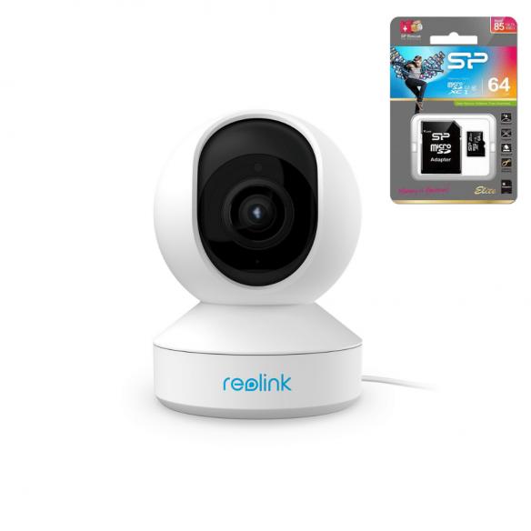 Reolink E1 Zoom 5MP PTZ langaton kamera sisäkäyttöön + 64GB muistikortti