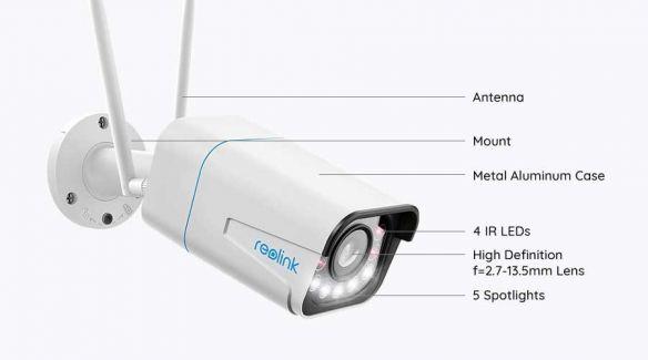 Reolink RLC-511WA 5MP bullet AI WiFi kamera ulkokäyttöön + 64GB muistikortti