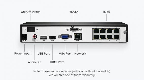 Reolink RLK8-810B4-A 4K UltraHD PoE valvontajärjestelmä