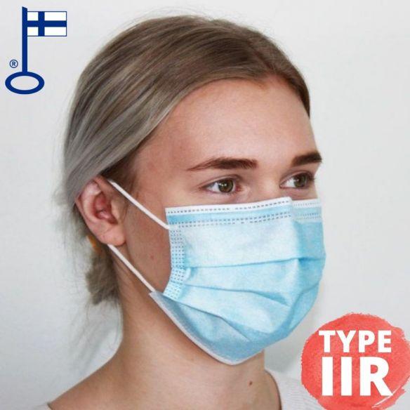Screentec suomalainen kirurginen suusuoja, Type IIR (50 kpl)