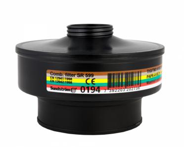 Sundström SR 599 A1BE2K1-Hg-P3 R yhdistelmäsuodatin puhallinsuojaimeen