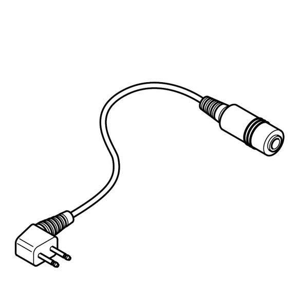 Sundström adapteri 2pin T09-0002 mikrofonijohdolle