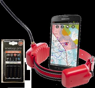 Ultracom Koira-GPS -paketti (panta, ohjelmisto, akut, laturi)