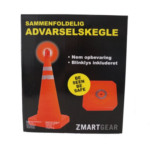 Zmartgear kasattava varoituskartio LED valolla