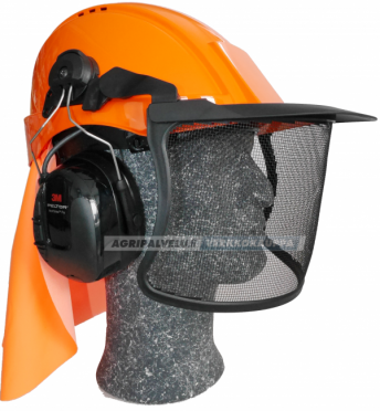 3M Peltor metsurin kypäräpaketti WorkTunes Pro kuulonsuojaimella